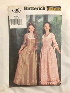 Butterick History Collection 6867 Pattern Uncut Size   Etsy Creative Skills, Victorian Era, Pattern Making, Costumes, History, Pictures, Etsy, Collection, Vintage