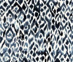 Indigo Tribal Leopard fabric by crystal_walen on Spoonflower - custom fabric