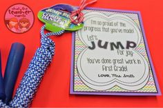 What the Teacher Wants!: End of Year Gift Idea {Jump Ropes}