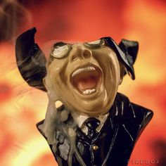 "The Melting Face Of Agent Toht From ""Raiders Of The Lost Ark"" As A Candle"
