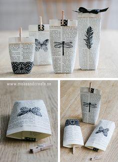 Bok blir presentpåsar - Pyssel & pysseltips - Make & Create