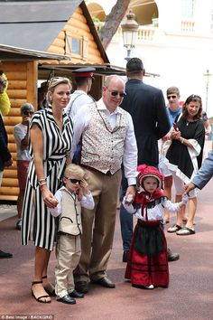 Prince Jacques cut an adorably dapper figure in a sharp suit and a pair of black sunglasses