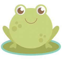 Frog: Miss Kate Cuttables-- SVG cutting file for scrapbooking frog svg cuts frog svg cut files