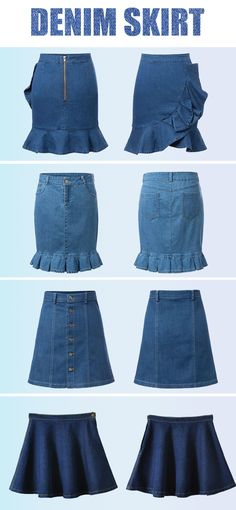 All kinds of denim skirts from #Choies.com! classic and fashion style,must be the basic one that you need!