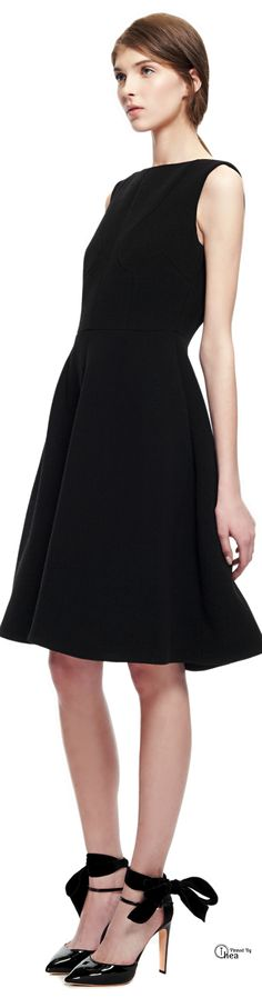 Rochas ● Pre-Fall 2014, Black Crepe Dress--to heck with the dress, i love the shoes!