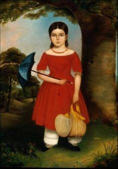 A Girl in Red, ca. 1842  (Unknown American Artist) Museum of Fine Arts, Boston,  47.1215