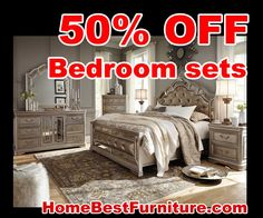 BIG SALE 50 PERCENT OFF DISCOUNT Birlanny Silver King Bedroom Furniture With Dresser And Mirror