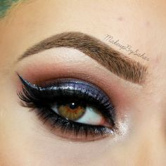 """""""Bewitched eyes"""" by Makeup By Sahar using the Makeup Geek Cocoa Bear, Creme Brûlée, Drama Queen, Mocha, and Shimma Shimma eyeshadows with Bewitched pigment."""