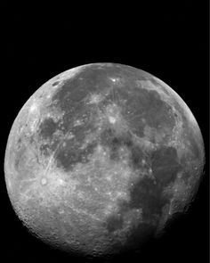 Full Moon, Night Sky Telescope Space Photograph, Black and White ☁ ♡ #Moon #FullMoon