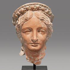 Hellenistic Ceramic Head of Aphrodite                                                                                                                                                        Culture :                  Hellenistic                                              Period : Black Sea Region, circa 3rd-1st Century B.C.                                          Material : Greek Ceramic