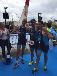 Second team of Bioibérica. Well done! #OceanLava #triathlon (Arrecife, Canarias Islands, 24 October 2015) #HawaiiChallenge
