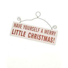 A Merry Little Christmas Sign