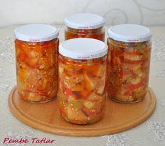 Sirkeli Eggplant Konservesi Recipe, How To, Soup Recipes Soup Recipes, Dinner Recipes, Food Articles, Mini Cheesecakes, Eggplant, Preserves, Vinegar, Pickles, Salsa