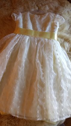 For a moment in time, angelic Chiffon is Vintage so take great care!! Lining is traditional pale yellow muslim. Yellow complimentary ribbon for waist. Extensive Hand work. Have a antique expert clean.