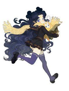 Sailor moon / Luna and Artemis Sailor Moon Crystal, Luna Sailor Moon, Sailor Moon Fan Art, Sailor Jupiter, Sailor Neptune, Sailor Mars, Luna Moon, Chibi, Character Design References