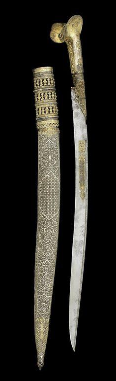 An Ottoman silver-gilt Yataghan Turkey, circa 1800.  | © Bonhams 2001-2014