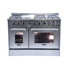 thor kitchen 48inch stainless steel silver gas range with 6 burners and griddle 48inch gas range griddles thor and ovens