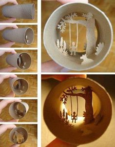I love toilet paper rolls. Yes, toilet paper rolls are definitely under appreciated. Each toilet paper roll is the same - they are cylindrical in shape, short and made of thin cardboard. Toilet Paper Roll Art, Rolled Paper Art, Diy Paper, Paper Crafts, Diy And Crafts, Crafts For Kids, Tree Crafts, Creative Crafts, Papier Diy