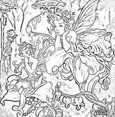 een fairy kleurplaat
