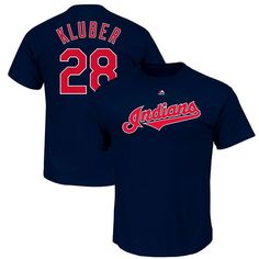 Corey Kluber Cleveland Indians Majestic Youth Player Name & Number T-Shirt - Navy - $21.99