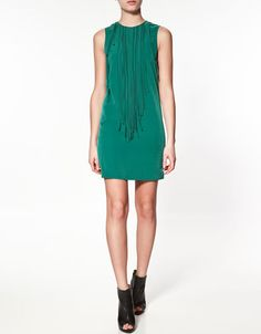 Zara Dress With Fringing at the Front
