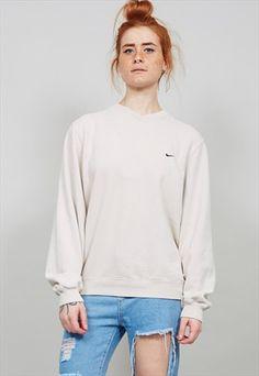 Vintage+90's+oversized+beige+Nike+sweatshirt+3662
