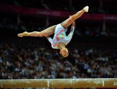 Discipline olympique : Gymnastique artistique poutre.