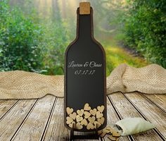Vineyard Wedding Guest Book  Wine Bottle Guestbook by CoosaDesigns
