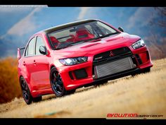 Mitsubishi Evo X Ralliart Edition - I love the exposed intercooler on these things; one of the only cars I& seen that can pull it off and make it look classy Mitsubishi Lancer Evolution, Evo X, Ford Mustang, Mitsubishi Motors, Tuner Cars, Sweet Cars, Top Cars, Japanese Cars, Car Photos
