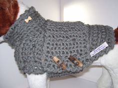 Small Dog Sweater - Grey Dog Sweater - Small Dog Clothes - Small Dog Outfit - Pet Clothes For Dogs - Pampered Pooches - Terrier Sweater