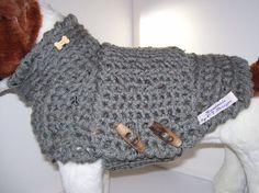 Kleiner Hund Sweater Pullover grau Hund von CTDESIGNSBESPOKEBAGS