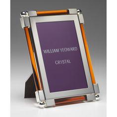 "Discover the William Yeoward Crystal Photo Frame - Amber - 4""x6"" at Amara"