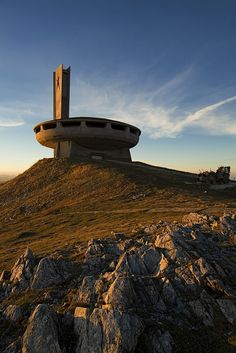 The Buzludzha / the author of this project was the architect Guéorguy Stoilov. Several famous painters and sculptors have participated / The New Motive Power, via Flickr