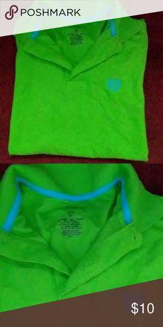 Chaps lime green polo Chaps lime green polo tee Chaps Shirts & Tops