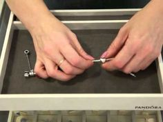 How to accessorise your Pandora Bracelets with charms, spacers, clips and safety chain - YouTube