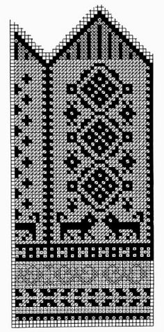Knitted mittens pattern from 1953 Knitted Mittens Pattern, Knit Mittens, Knitting Socks, Knitting Needles, Knitting Charts, Knitting Patterns, Filet Crochet, Knit Crochet, Fair Isle Chart