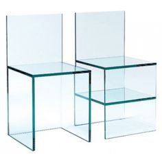 glass chair no. 1, glass chair no. 2