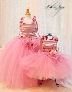 Dusty Rose Cinderella Flower Girl Dress | MelissaJane Boutique | Quality Children's Dresses