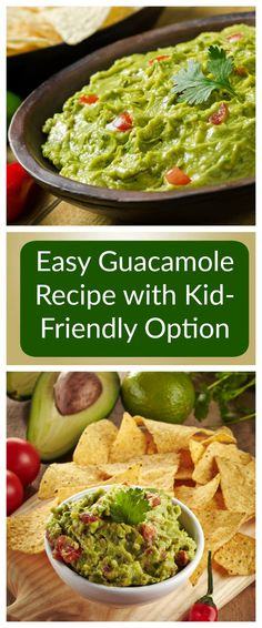 Easy and healthy guacamole recipe that can be made chunky or can be blended in any blender, Nutribullet, or Magic Bullet for a kid friendly version.