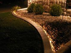 Garden Lighting install rope lighting