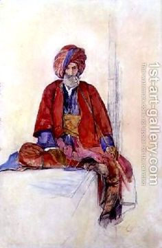 pipe smokers around the world   Study of a seated Turk smoking a long pipe John Frederick Lewis   Oil ...