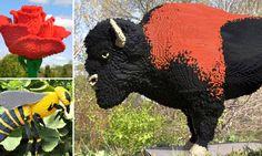 Plastic fantastic: Lego artist's extraordinary creations built from 500,000 bricks go on show