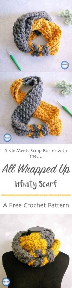 This FREE, modern, beginner friendly crochet pattern is a perfect and quick stash buster. A video tutorial will help you make this infinity scarf for your next chilly winter day.