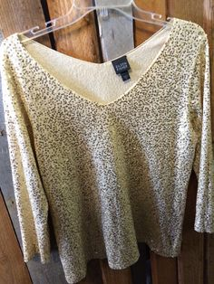 Dazzle the world with this stunning Eileen Fisher sequin sweater. Size M - $39 #eileenfisher #sequinsweater