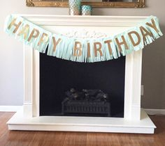 Items similar to Happy Birthday Fringe banner, vintage birthday, mermaid birthday, under the sea birthday on Etsy Birthday Celebration, Birthday Parties, Gold Banner, Banner Images, Colourful Balloons, Vintage Birthday, Mermaid Birthday, Happy Birthday Banners, Green And Gold
