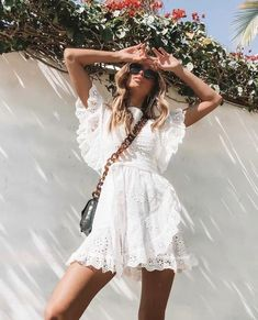 Lace Cutout Ruffled Tie With White Mini Dress Lace cutout ruffled . - Lace Cutout Ruffled Tie With White Mini Dress Lace cutout ruffled tie with white mini dress Source by - Elegant Dresses, Cute Dresses, Casual Dresses, Short Dresses, Fashion Dresses, Summer Dresses, Maxi Dresses, Awesome Dresses, Ruffled Dresses