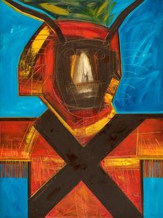João Vieira Untitled 149)05 1995 Painting x Canvas 130 cm x 97 cm  #JoãoVieira #Artist #Art #Oil #Painting #Color #Portugal #Gallery #SaoMamede #Artwork #Lisbon