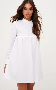 White Cotton Poplin High Neck Smock Dress 2019 White The post White Cotton Poplin High Neck Smock Dress 2019 appeared first on Cotton Diy. Girls Smocked Dresses, Day Dresses, Cotton Dresses, Dresses Online, Dress Outfits, Short Dresses, Fashion Dresses, Best Casual Dresses, Floral Dresses