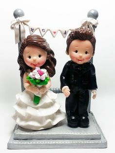 Wedding Clay Cake Topper Garden Of Love Not Editable By Jane77 Toppers Pinterest Air Dry And