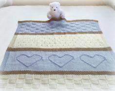 Knit Blanket Pattern Knit Throw Pattern Knit Heart Blanket